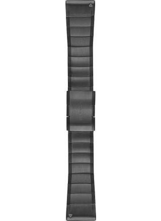 Garmin Fenix 5X Quickfit 26mm DLC carbon gray titanium strap 010-12741-01