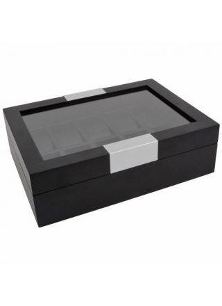 Davidts watchbox 10 watches black tree/black fauxleather 02200510100