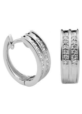 Kohinoor white gold diamond Earrings 143-9705V