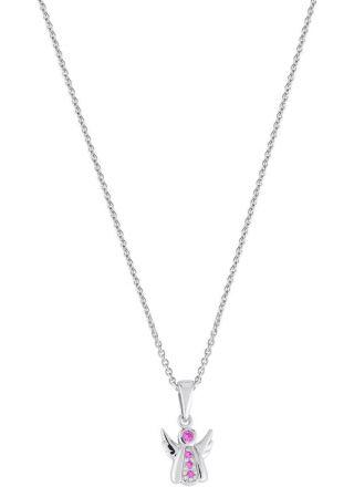 AALmark N1247 pink/36-38 Christening Angel Necklace