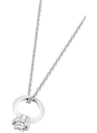 AALmark N395-851p/36-38 Clear Ring Pendant Necklace