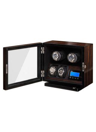 Boxy BLDC Walnut Watch Winder For 2 Watches 309417