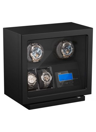 Boxy BLDC Black Watch Winder For 2 Watches 309420