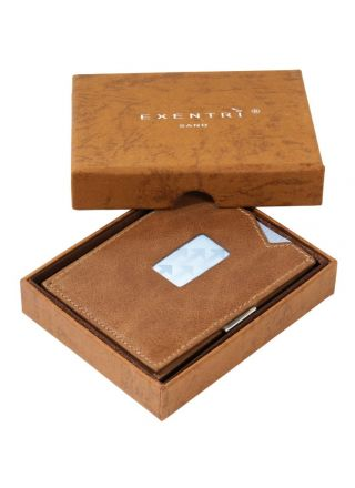 Exentri RFID protected Wallet Sand