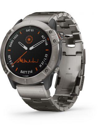 Garmin Fenix 6X Pro Solar Titanium Smart Watch 010-02157-24