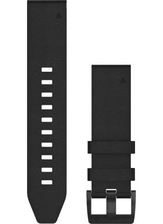 Garmin Fenix 5 Quickfit 22mm black leather strap 010-12740-01
